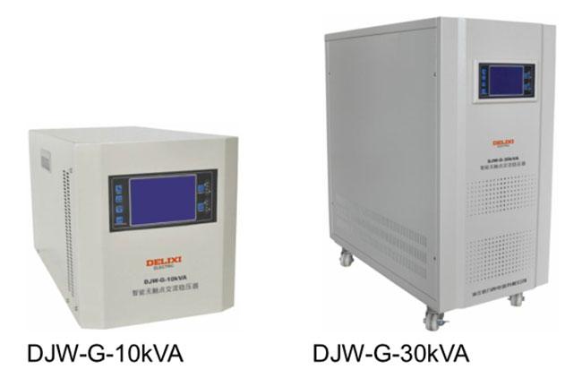德力西交流稳压器显示屏是什么样的 有彩色液晶显示的单相稳压器吗?
