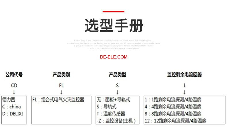 德力西CDFL-Z电气火灾监控主机产品介绍