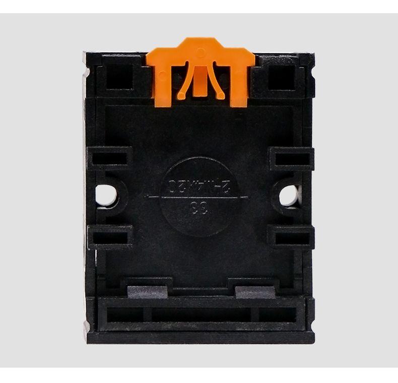 德力西圆形通用继电器PF083A底座技术参数