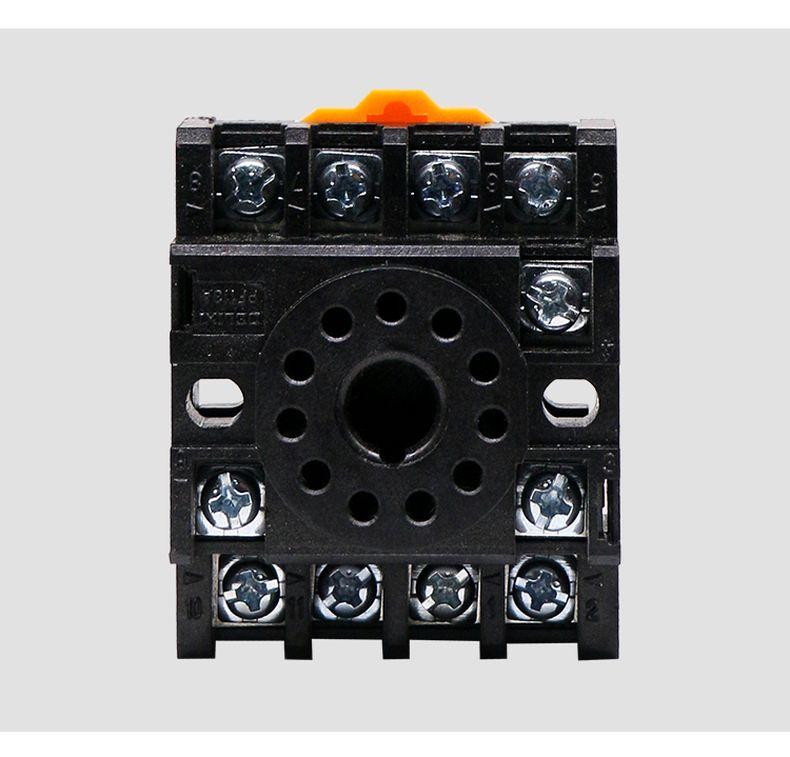 德力西圆形通用 JQX继电器底座 产品外形尺寸