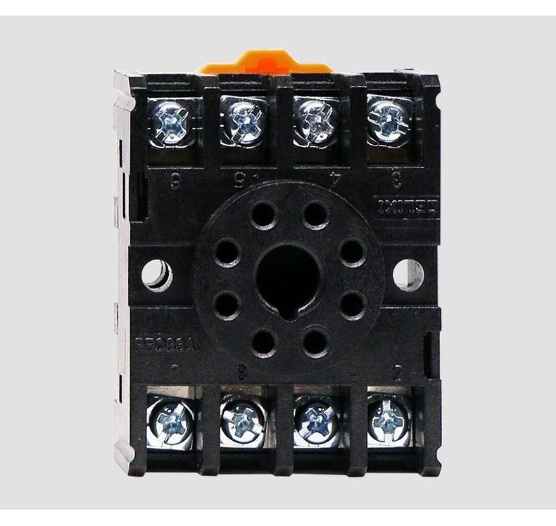 德力西圆形通用继电器JQX继电器底座