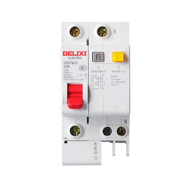 漏电�y��:(�y�k�c���!�f_德力西小型漏电断路器dz47sle 1p n/25a c型 单相两线